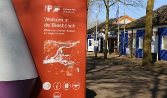 Biesboschcentrum Drimmelen met kaart van overige Biesbosch informatiepunten